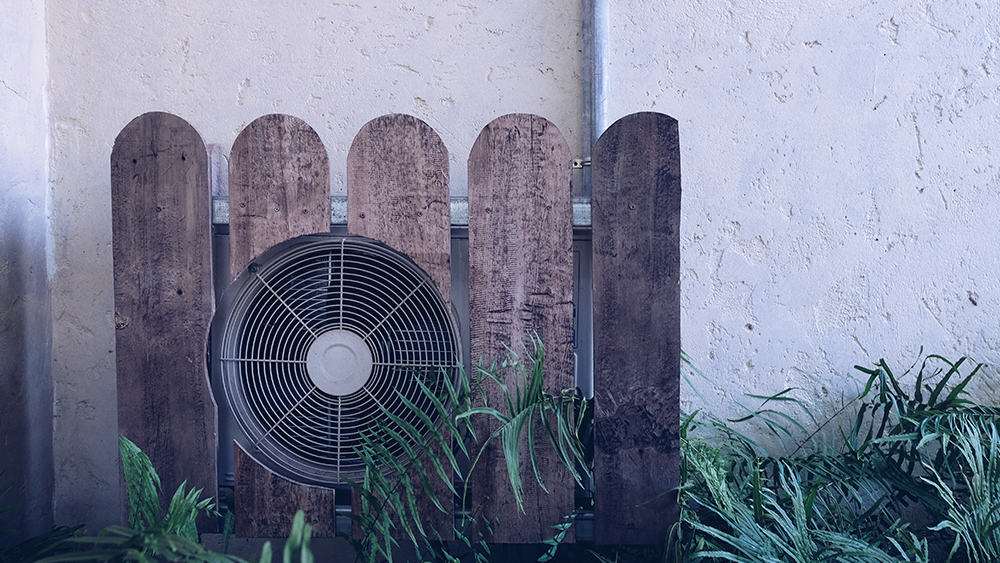 Picket fence to hide the AC unit.